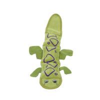Outward Hound Fire Biterz Lizard 2 Squeak Dog Toy Green 40 cm