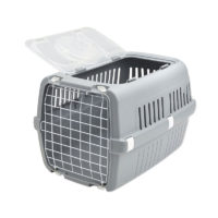 Savic Zephos 2 Open Pet Carrier Grey 22x15x13 inches