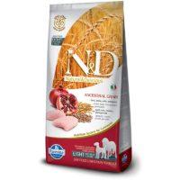N&D Low Grain Chicken & Pomegranade Light Adult Medium & Maxi Dog Food