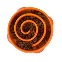 Outward Hound Fun Feeder Mini Slow Feed Bowl Orange