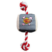 Pet Brands Denim Cube Rope Chew Dog Toy