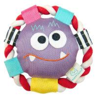 Pet Brands Monster Rolli Frisbee Squeak Dog Toy