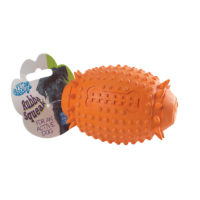 Pet Brands Rubba Squeak Rugby Ball Dog Chew Toy