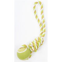 pet brands wow tennis ball tug dog toy