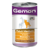 Gemon - Medium Adult Chunks with Chicken & Turkey Canned Dog Food
