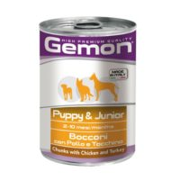 Gemon - Puppy & Junior Chunks with Chicken & Turkey Canned Dog Food