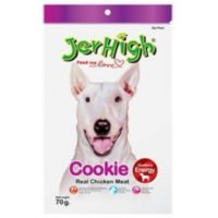 JerHigh Cookie Real Chicken Meat Dog Treats, 70gm