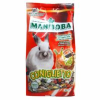 Manitoba Coniglietto with Fruits & Carrots Complete Feed For Dwarf Rabbits