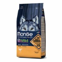 Monge BWild All Breeds Adult With Wild Ostrich Dry Dog Food