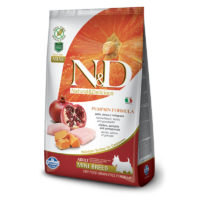 Farmina-N&D Pumpkin Grain Free Chicken and Pomegranate Adult Mini Dog Food