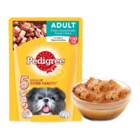 Pedigree Adult Chicken & Liver Chunks in Gravy Wet Dog Food Pouch