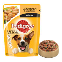 Pedigree Adult Chicken & Vegetables in Gravy Wet Dog Food Pouch