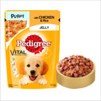 Pedigree Puppy Chicken & Rice in Jelly Wet Dog Food Pouch