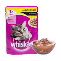 Whiskas Adult Chicken in Gravy Wet Cat Food Pouch