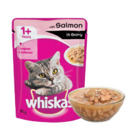 Whiskas Adult Salmon in Gravy Wet Cat Food Pouch