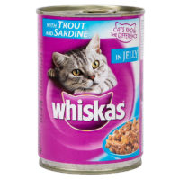Whiskas Trout & Sardine in Jelly Wet Cat Food Can