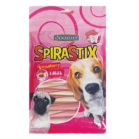Goodies Spirastix Strawberry & Milk Dog Treats